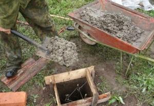 как заливать бетонную смесь для фундамента