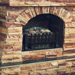 камин отделанный декоративным кирпичом фото