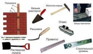 инструменты для кирпичной укладки