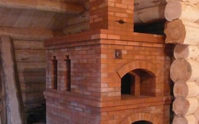 русская печь на даче