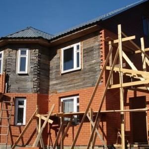 пример облицовки деревянного дома