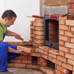 процесс строительства камина