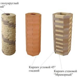 облицовка колонны кирпичом