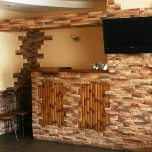 декоративная отделка стены дома плиткой