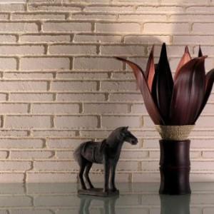 декорирование штукатуркой под кирпич