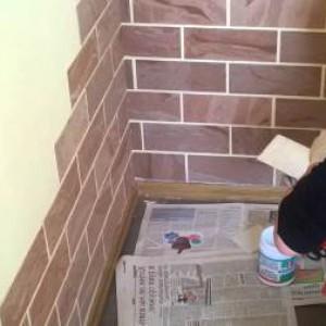 имитация кирпичной стены из пластика