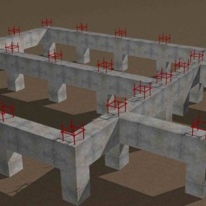 фундамент для кирпичного дома 3д