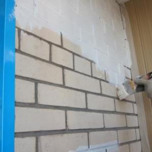 окраска стены на балконе без оштукатуривания