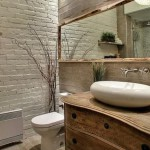 кирпичи в отделке ванной комнаты
