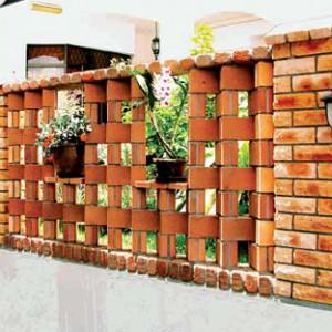 декоративный забор из кирпича