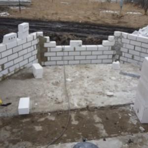 строительство кирпичного дома с эркером.