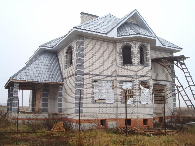 дом из силикатного кирпича фото