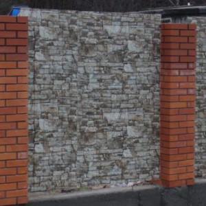 Декоративный забор из профнастила (пример)