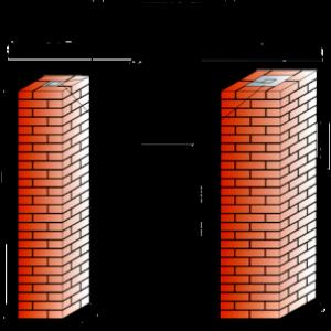 виды кирпичных столбов схема