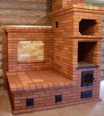 Интересная конструкция печи с лежанкой