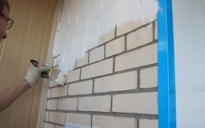 Окраска кирпичных стен