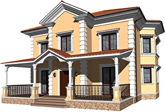 Дизайн фасада в стиле рококо