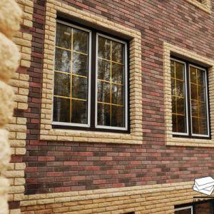 окно отделанное кирпичом