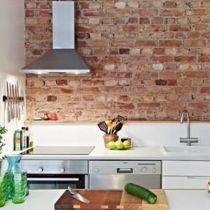отделка кухни под кирпичную кладку фото