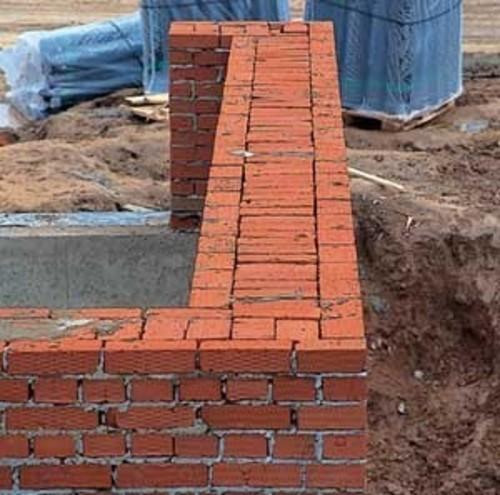 толщина стен из кирпича