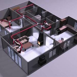 воздушная система отопления каркасного дома