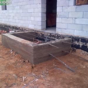 фундамент крыльца кирпичного дома