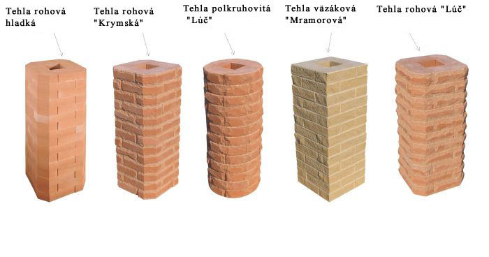 виды колонн из кирпича