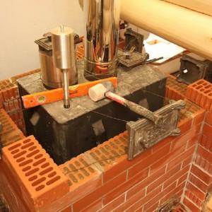 отделка металлической печи кирпичом шаг 1