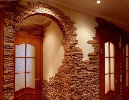 внутренняя отделка комнаты декоративным кирпичом