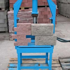 Гильотина для производства рваного колотого камня, блока, кирпича