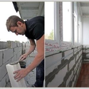 монтаж балконных ограждений из кирпича