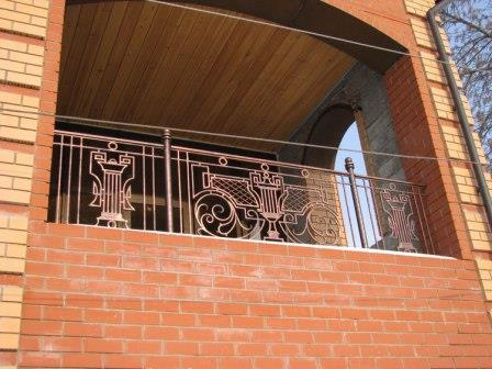 ограждение балконов из кирпича