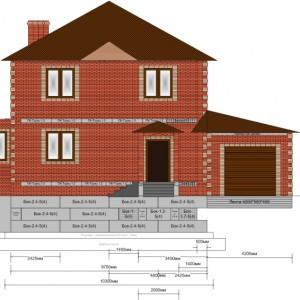 Схема крепления фундамента гаража и дома