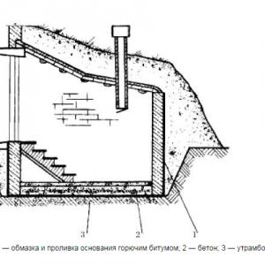 Схема погреба в разрезе
