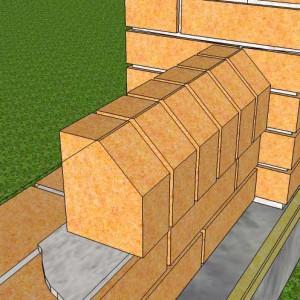 кладем забор из кирпича