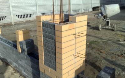 Столбы из кирпича фото строительства