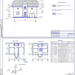 второй проект двухэтажного кирпичного дома