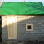 Строительство бани из шлакоблоков