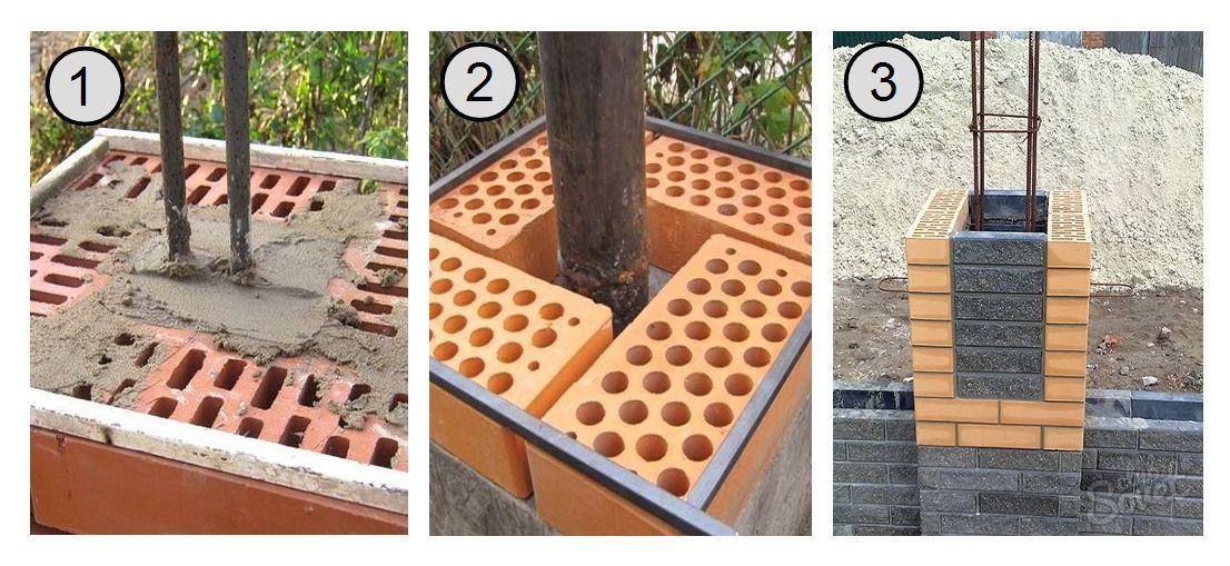 Технология установки столбов под несущие конструкции