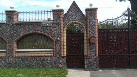 Красивый кованый забор фото