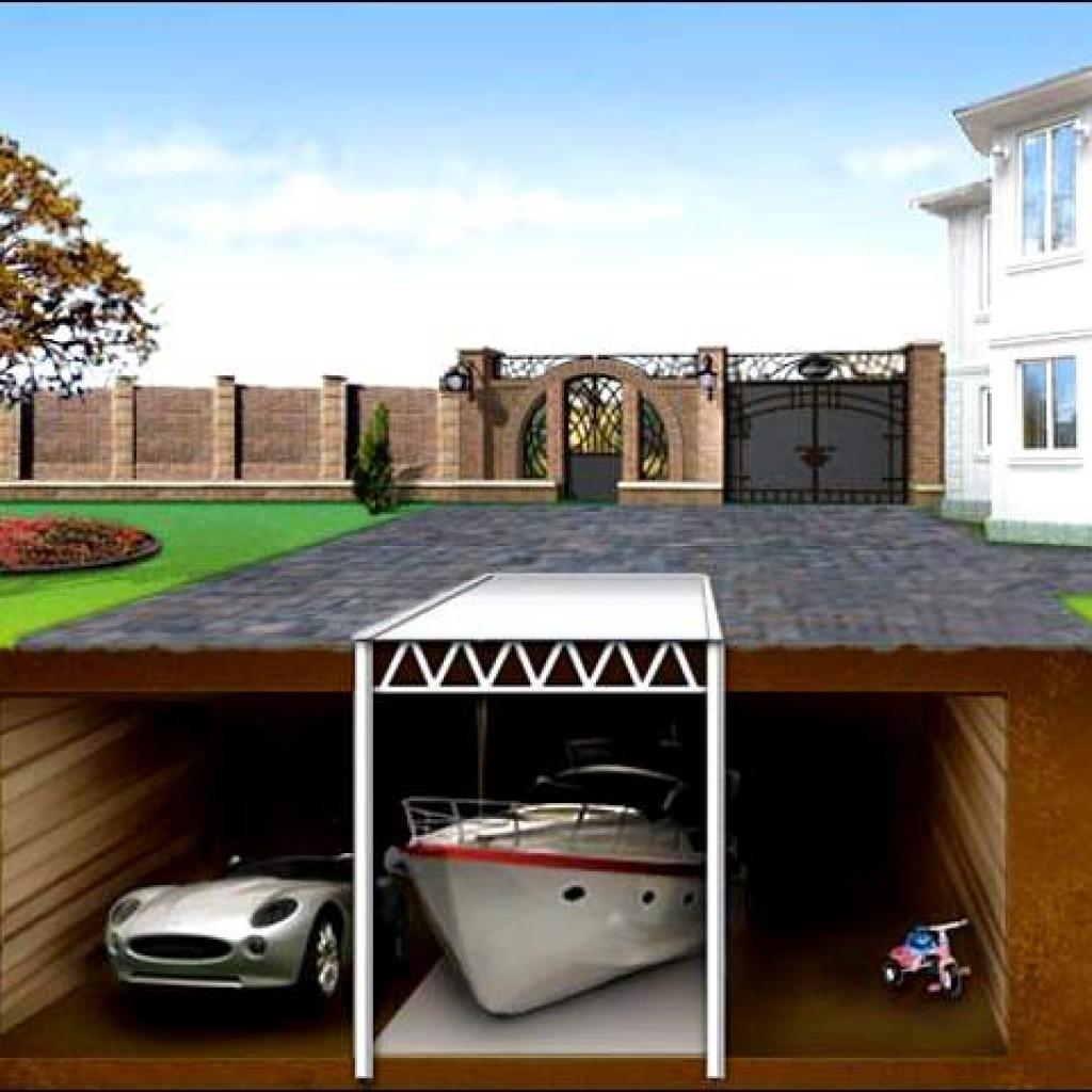 гараж на земельном участке под многоквартирным домом