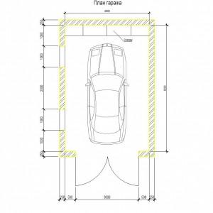 проект гаража схема