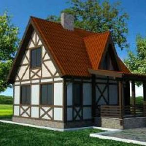 фахверковый каркасный дом