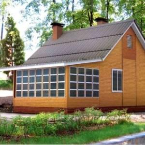 дом построеный по каркасно-щитовой технологии