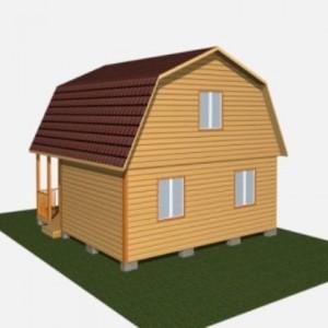 Компактный, быстровозводимый каркасно-щитовой дом.